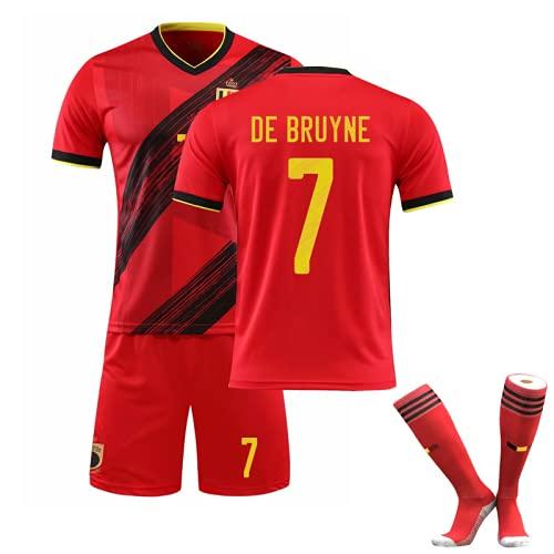CiYuan T-shirt de football Coupe d'Europe Belgique domicile n ° 7 De Bruyne maillot costume maillot de football