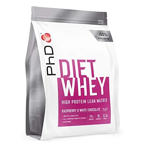 PhD Nutrition Diet Whey Protein Powder, Raspberry and White Chocolate, 2 kg