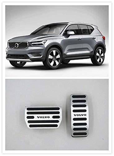 Per Volvo XC40 2019 2020 Accessori Alluminio Trasmissione Automatica Antiscivolo Metallo Gomma Carburante Tappo Del Serbatoio Freno Piede Dell'automobile Gas Pedale Copertura Set Kit 2 pz
