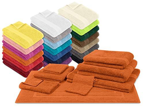 npluseins Packs zum Sparpreis - solide Frottiertücher - erhältlich in 20 modernen Farben und 8 verschiedenen Größen, 6er Pack Gästetücher (30 x 50 cm), terrakotta