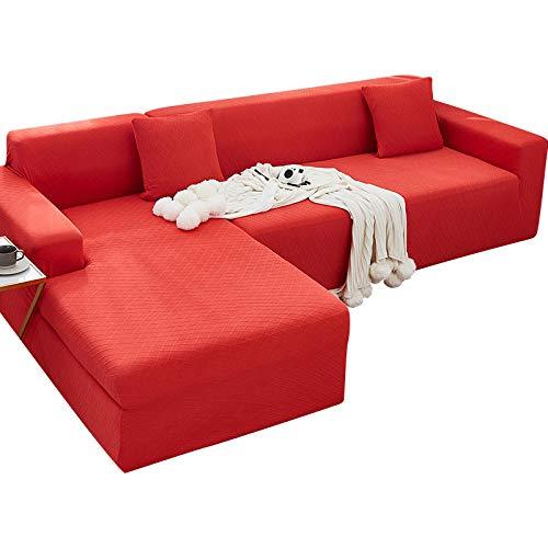 lxylllzs Stretch Sofabezug Sofaüberwurf,Verdicktes Sofakissen, Sofabezug All-Inclusive-Windsor Red (190-230cm),Elastischer Sofa-Überwürfe Antirutsch