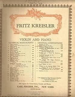 Fritz Kreisler Caprice Viennois Violin & Piano
