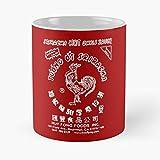 Desconocido Sauce OT Hot Huy Sriracha Foods Tuong Fong Original Chili Taza de café con Leche 11 oz