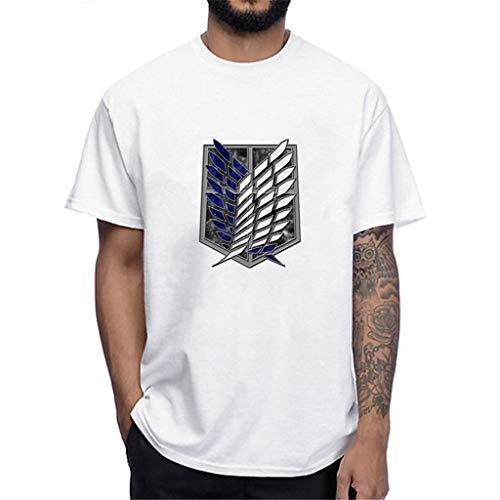 KIACIYA Anime Attack on Titan Tshirt Herren Sommer, AOT T-Shirt 3D Druck Levi Ackermann Cosplay T-Shirt AOT Aufklärungstrupp Kurzarm Shingeki No Kyojin Shirt Lässig Oberteil Blusen Tops (1,M)