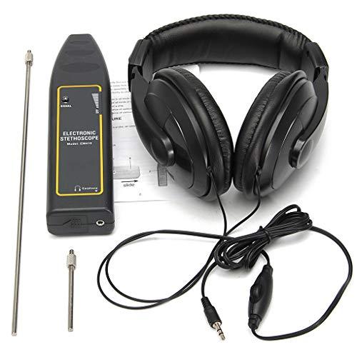 Sunlera Detector de Fugas de Agua de tuberías Estetoscopio electrónico para Auriculares de Coches Equipo de detección de 100Hz-10kHz