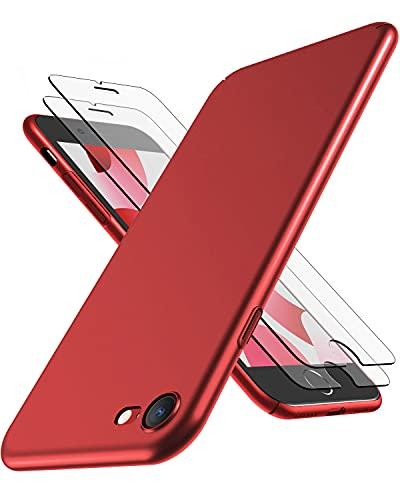 Cover iPhone SE NEW 2020, Cover iPhone 7/8, RANVOO Ultra Sottile Leggera Case Anti-impronta Antigraffio Protettiva Hard Cover Plastica Dura Shell per iPhone SE NEW / 7 / 8 (4,7 pollici), Rosso