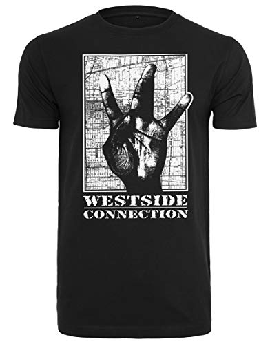 MERCHCODE Herren Westside Connection T-Shirt, Black, M