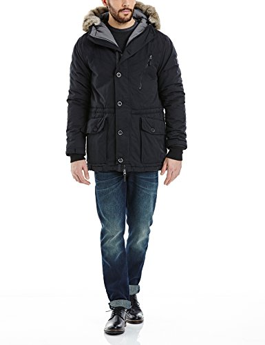 Bench Herren Parka Jacke BREATH, Gr. Large, Schwarz (Black BK014)