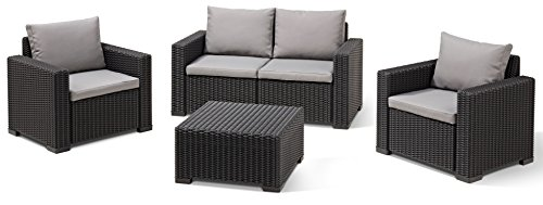 Allibert Lounge Sofa Rattan, Lounge California Sofa, Grau, 2-Sitzer - 4