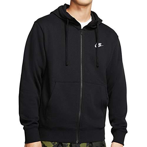 Nike Men's Hoodie (BV2649-010_Black/Black/White_Large)