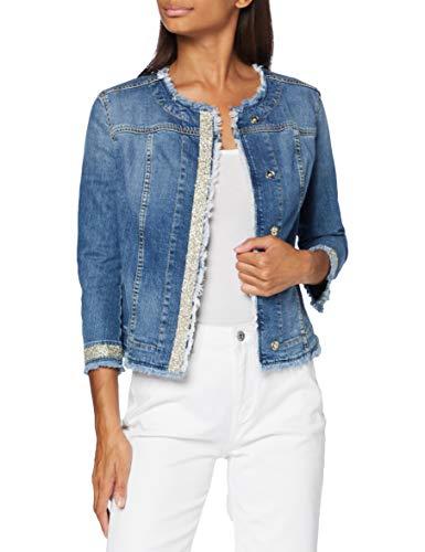 Trussardi Jeans Collar Jacket Denim Giacca in Jeans, Blu (Steel Blue U120), 58 (Taglia Produttore:44) Donna
