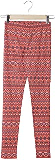 DJ & C by FBB Aztec Print Mid Rise Legging (Coral, 15-16 Years)