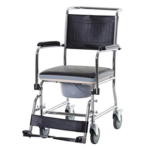 Chaise percée à roulettes - fauteuil roulant percé - coussin...