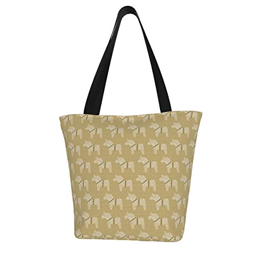 Einkaufstaschen, Court Spark Keks-Töne auf natürlichem Segeltuch, wiederverwendbar, faltbar, Reisetasche, groß und langlebig, robuste Einkaufstaschen