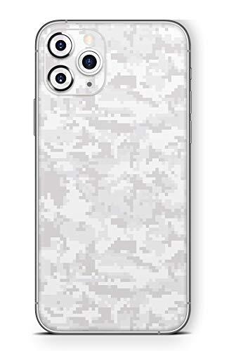 Skins4u Ultra Slim Schutzfolie für iPhone 11 Pro Max Skins Matte Oberfläche Aufkleber Skin Klebefolie Kratzfest Case Cover Folie Digital White Camo