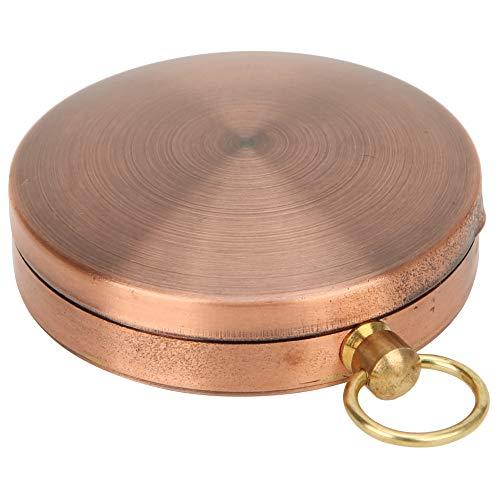 Voluxe Bússola portátil, caixa banhada a ouro suave, bússola para relógio de bolso para brincar ao ar livre para acampamento, piquenique para passeios (bússola)