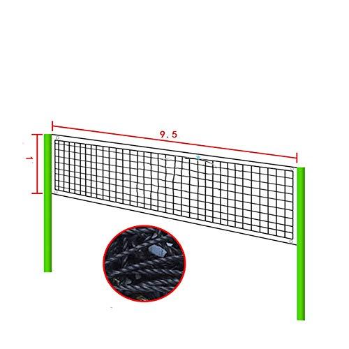 Dfghbn Redes de Voleibol Red del Voleibol de Gas estándar de Voleibol de Playa Neto Red de Voleibol portátil en Interiores y Exteriores Easy Setup Net (Color : Black, Size : 950x100cm)