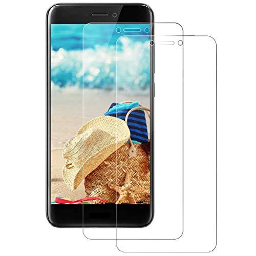 Mkej Vetro Temperato Huawei P8 Lite 2017 Pellicola, [2 Pezzi] HD Alta Trasparenza Senza Bolla Pellicola Protettiva di Vetro, Screen Protector [Resistenza ai Graffi] 3D Copertura Vetro Protettivo