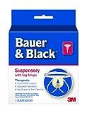 3M Bauer and Black 0-2 Suspensory with Leg Strap, Medium