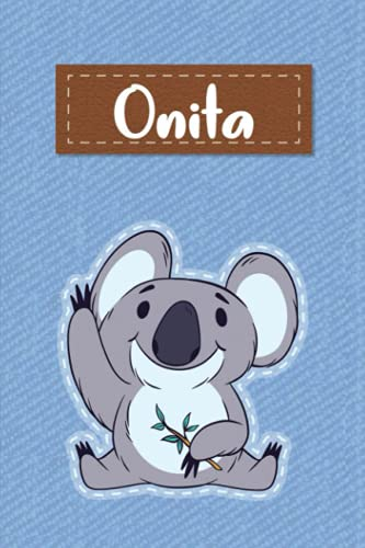Onita: Lined Writing Notebook for Onita With Cute Koala, 120 Pages, 6x9