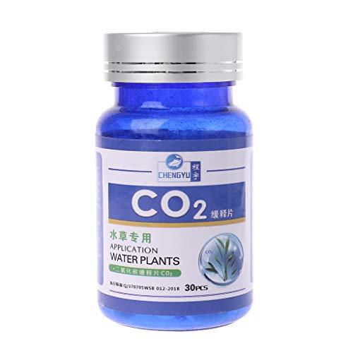 junyeYJY _Aquatic Plants CO2 Tablet Difusor de dióxido de carbono para plantas de agua, hierba pecera, acuario