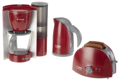 Theo Klein 9580 Bosch Frühstücksset I Küchen-Set bestehend aus Toaster, Kaffemaschine und Wasserrkocher I Verpackungsmaße: 44,5 cm x 13 cm x 24,5 cm I Spielzeug für Kinder ab 3 Jahren