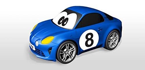 Bburago Maisto France- BBJUNIOR-Renault-Meine erste Alpine A110 mit Gyroskop-Lenkrad Auto, 92009, blau