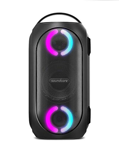 Anker Soundcore Rave Mini Portable Party Speaker, Huge 101dB Sound, Fully Waterproof, USB Charger, Beat-Driven Light Show, App, Party Games, All-Weather Speaker for Outdoor (Renewed)