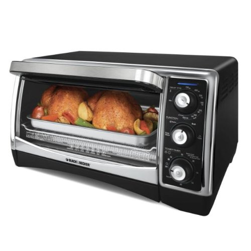 Black & Decker TO1640B 1500-Watt 6-Slice Countertop Convection Oven and Broiler with Nonstick Interior: Kitchen & Dining