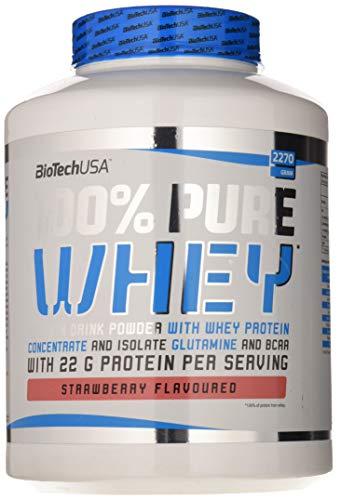 BioTech 100% Pure Whey Proteínas de Suero de Leche, Sabor Fresa -...