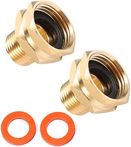 Brass Garden Hose Adapter 3 4 GHT Female x 1 2 NPT Male Connector GHT to NPT Adapter Brass Fitting product image