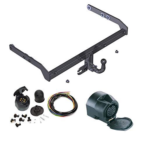 ATTELAGE avec faisceau 13 broches | Ford Galaxy / Seat Alhambra / VW Sharan de 2000 à 2006 / crochet «col de cygne» démontable avec outils