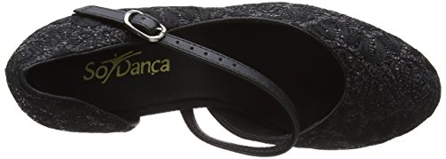 So Danca Damen Standard & Latein Tanzschuhe – Standard & Latein Bl504, Schwarz (Black Sparkle), 38.5 EU (8.5 US) - 7