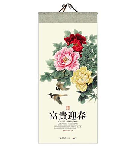 2019 Wall Tear Off Calendar con estilo chino para el hogar/hotel/oficina, 01