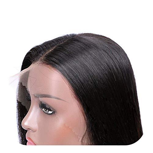 PJPPJH Perruques pour Femmes Cheveux Humains Avant de Lacet Tresse Perruque, 13x4 Droite Avant de Lacet Perruque 99J Avant de Dentelle