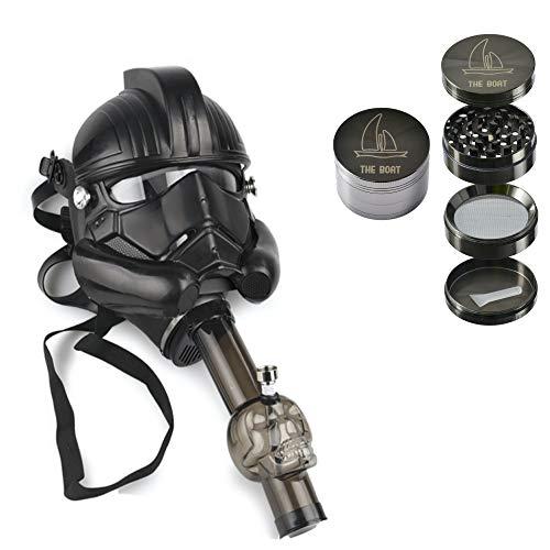 Máscara con bong Star Wars Soldado Imperial + Grinder THE BOAT 4 partes con rascador - kit para fumar tabaco.