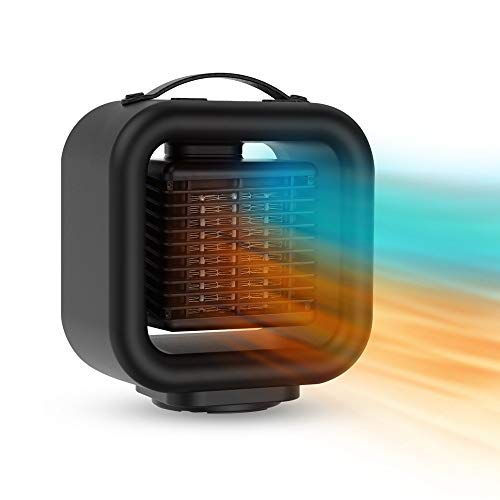 Space heaters portable for indoor use heater electric with thermostat for bedroom,large room,office/energy efficient,over heat protection,3 mode adjustable,timer,2s quick heating,120° shaking head