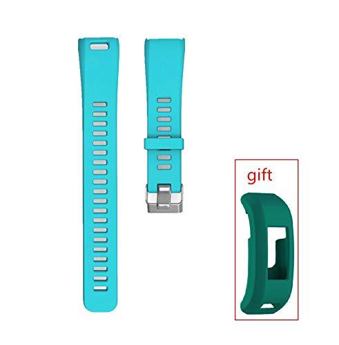 WEINISITE Bracelets pour Garmin Vivosmart HR,Couvercle de Protection pour HR,Souple Silicone Remplacement Bracelets pour Garmin Vivosmart HR Trackers d'activité (Teal)