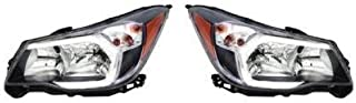 Go-Parts - PAIR/SET - OE Replacement for 2014 - 2016 Subaru Forester Front Headlights Headlamps Assemblies Front Housing / Lens / Cover - Left & Right (Driver & Passenger) SU2502146 SU2503146