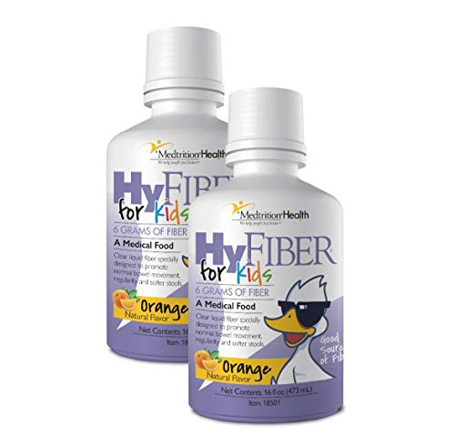 HyFiber Liquid Fiber for Kids in Only One Tablespoon, Supports Regularity and Softer Stools, FOS Prebiotics for Gut Health, 6 Grams of Fiber, 32 Servings per Bottle