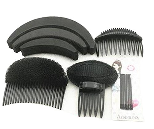 1 Set As picture Shown Hair Styler Styling Tool DIY Hairpin Bump Up Inserts Base Comb Bumpits Bump Foam Pads Braiding Twister Ponytail Roll Rings Maker Holder Barrette Clip Pins Accessories