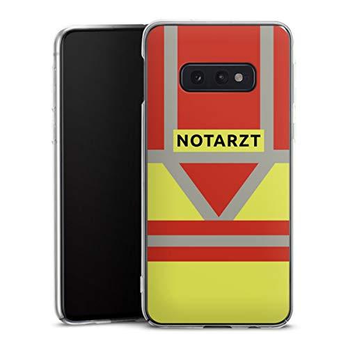 DeinDesign Hard Case kompatibel mit Samsung Galaxy S10e Schutzhülle transparent Smartphone Backcover Beruf Notarzt Uniform
