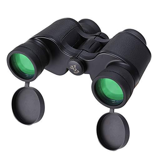 Binoculares Compactos 8x40 para Adultos, Prismáticos Ligeros BaK-4 Roof Prism para Observación de Aves, Caza, Viajes, Senderismo, Eventos Deportivos, Conciertos