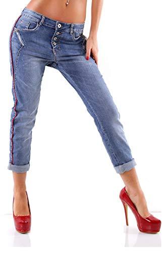 OSAB-Fashion 4411 Damen Jeans Karostar by Lexxury Hose Boyfriend Haremscut Regularfit