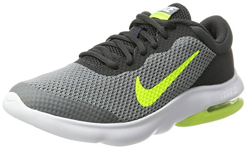 Nike Kids Air Max Advantage Running Shoe (GS) (Cool Grey/Volt/Anthracite/White, 5 Big Kid)