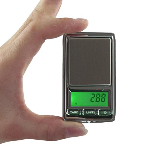 Schmuck-Diamant-Skala, Huihong 0,01 g - 500 g Gramm Mini Digital LCD Waage Gewicht Taschenwaage