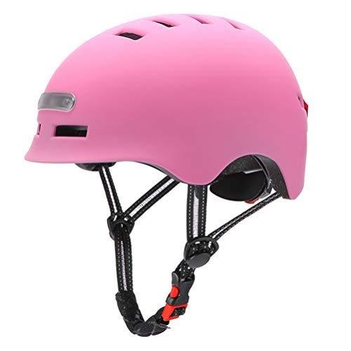Casco de Bicicleta para Adultos con Luz USB Recargable,Casco de Ciclismo Ligero de luz Trasera para Hombres y Mujeres Adultos