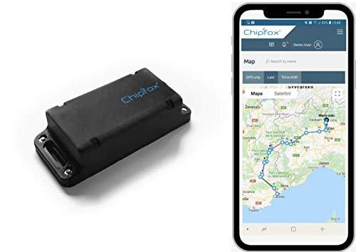 CHIPFOX HD - Tracker GPS sin Necesidad Tarjeta SIM - Localizador para Coche, Moto, equipajes, logística - hasta 2 años de autonomía. Sigfox.