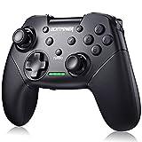 ECHTPower Controller wireless per Nintendo Switch Bluetooth Pro Controller con funzione sveglia, Controller remoto Gamepad con funzione Turbo vibrazione e sensore di movimento per Nintendo Switch