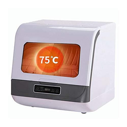 Kleine Ultraschall-GeschirrspüLer, Automatische Tisch-GeschirrspüLmaschine FüR Den Haushalt, Freistehend, Ohne Installation, 3 Programme/Mit Trocknungsfunktion,White